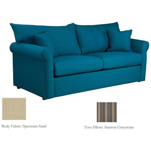 Warehouse M 79 Frame Sunbrella Fabric Full Sleeper Sofa