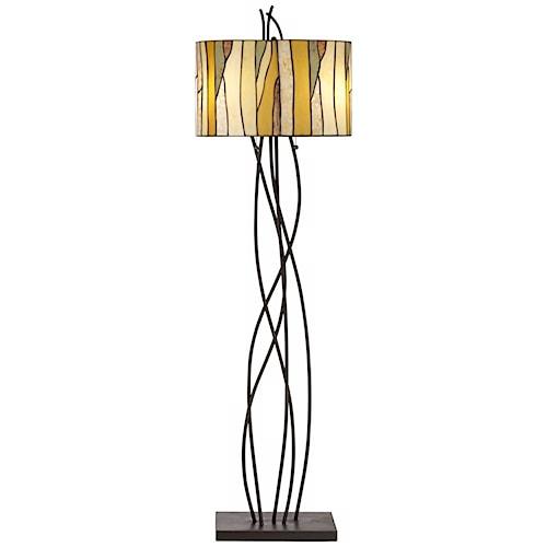Pacific coast lighting floor lamps oak vine floor lamp for Floor lamp with vines