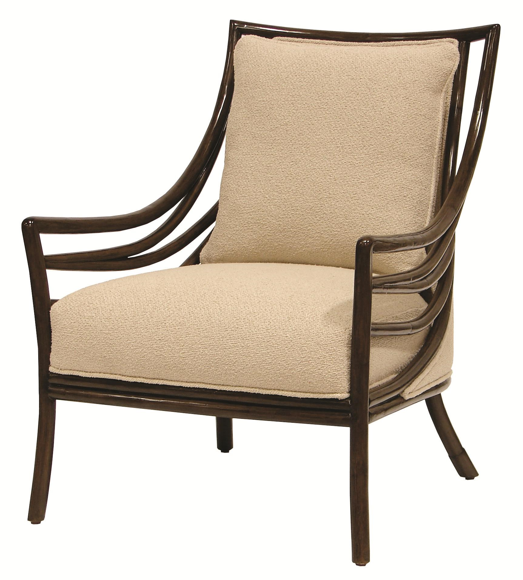 Palecek Accent Chairs by Palecek Transitional Crescent Lounge Chair Design