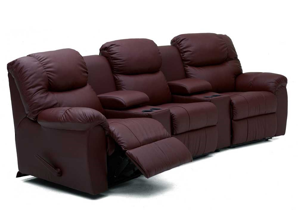 Sofa Bed Home Theater: Palliser Regent Three Recliner Home Theater Sectional