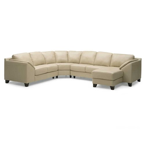 Palliser Cato Contemporary Upholstered Sectional Sofa With