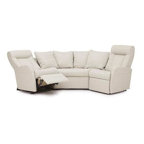 Palliser banff ii contemporary reclining sectional sofa for Sofa 500 euro