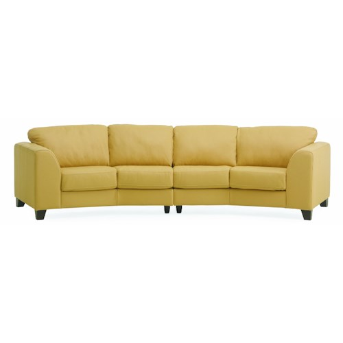 Palliser juno elements 77494 four seat angled sofa for Angled chaise sofa