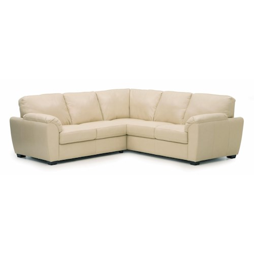 Tulsa casual three piece sectional sofa with pillow arms for Sectional sofas tulsa