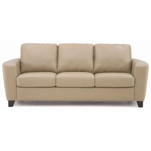 palliser leeds contemporary sofa with curved track arm