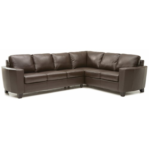 Leather Sofa Repairs In Coventry: Palliser Leeds Contemporary 2-piece Sectional With LAF