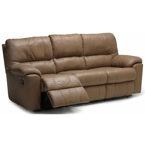 "Palliser Picard 88"" Casual Leather Reclining Sofa"