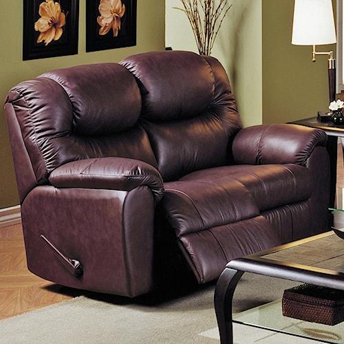Palliser Regent Reclining Leather Loveseat Jordan S Home