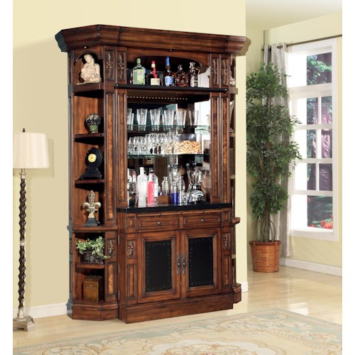 Parker House Leonardo 4 Piece Bar Base And Hutch Beck 39 S Furniture Bar Cabinets Sacramento