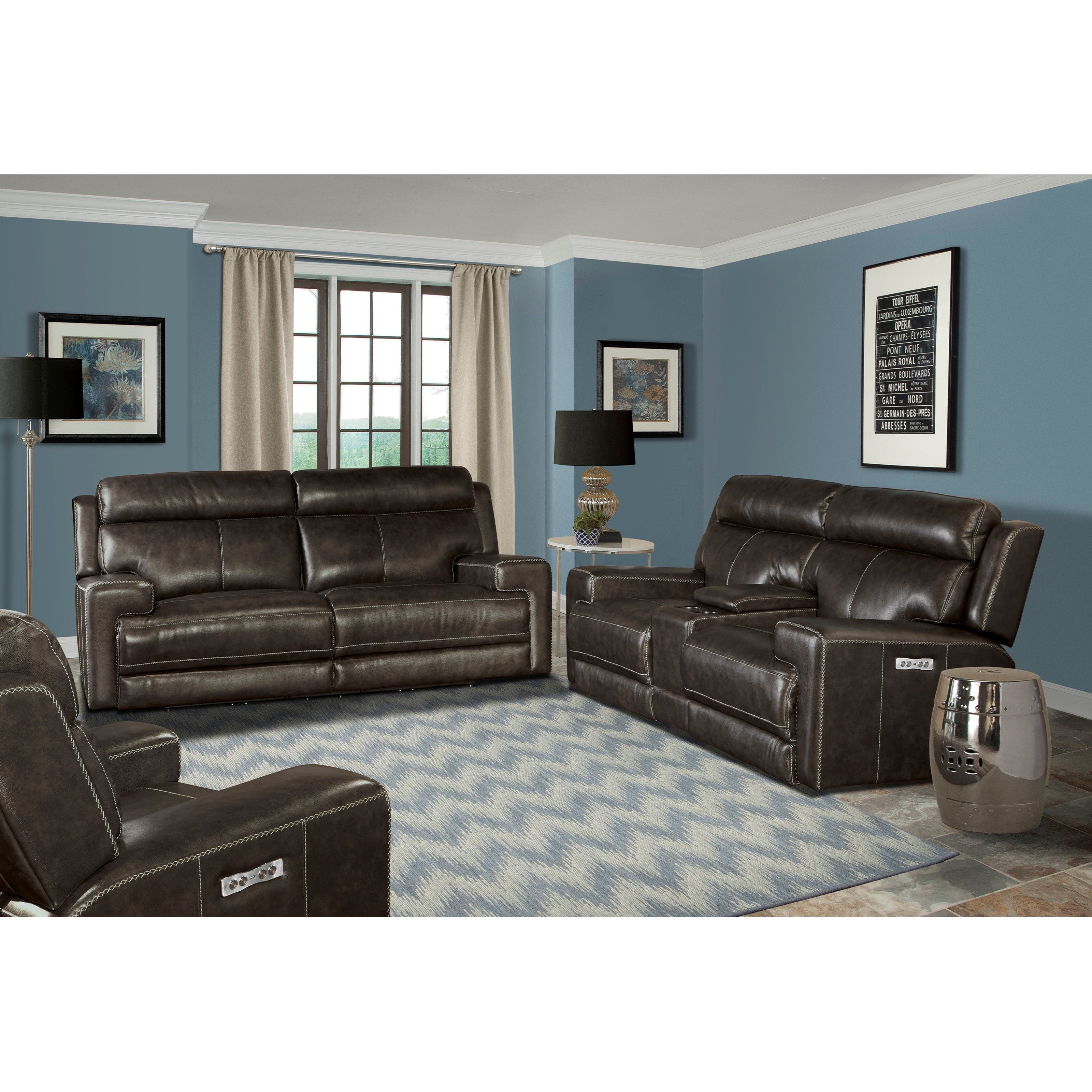 Power Reclining Living Room Group Glacier by Parker