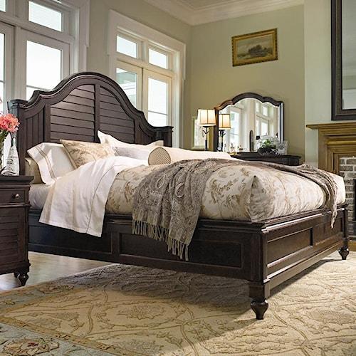 Paula Deen By Universal Paula Deen Home King Steel Magnolia Bed With Panel Headboard And Low