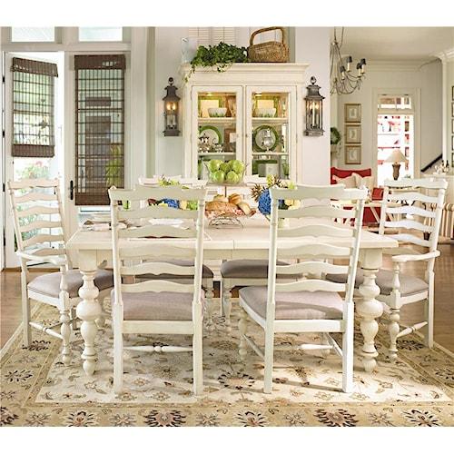 by universal paula deen home paula 39 s leg table w 2 ladder back dining