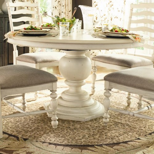 Universal Home 996655 Round Pedestal Table Baer 39 S Furniture Dining Ro