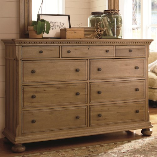 Paula Deen By Universal Down Home Aunt Peggy 39 S Dresser With 8 Drawers Wayside Furniture Dresser