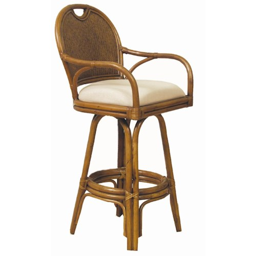 Pelican Reef Bar Stools 30 Swivel Barstool With Upholstered Seat Jacksonville Furniture Mart