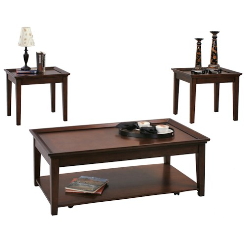 Progressive furniture encore 3 piece occasional table set for Accent furnitureable