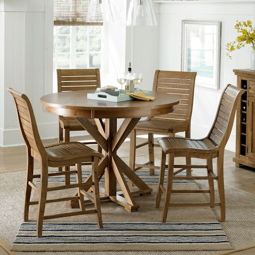 furniture willow dining 5 piece round counter height table set