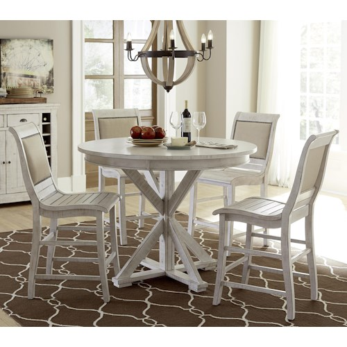 Table And Stool Set Progressive Furniture Willow Dining 5 Piece Round