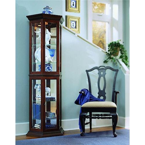 Pulaski Furniture Curios Nut Brown Ii Curio Wayside Furniture Curio Cabinet