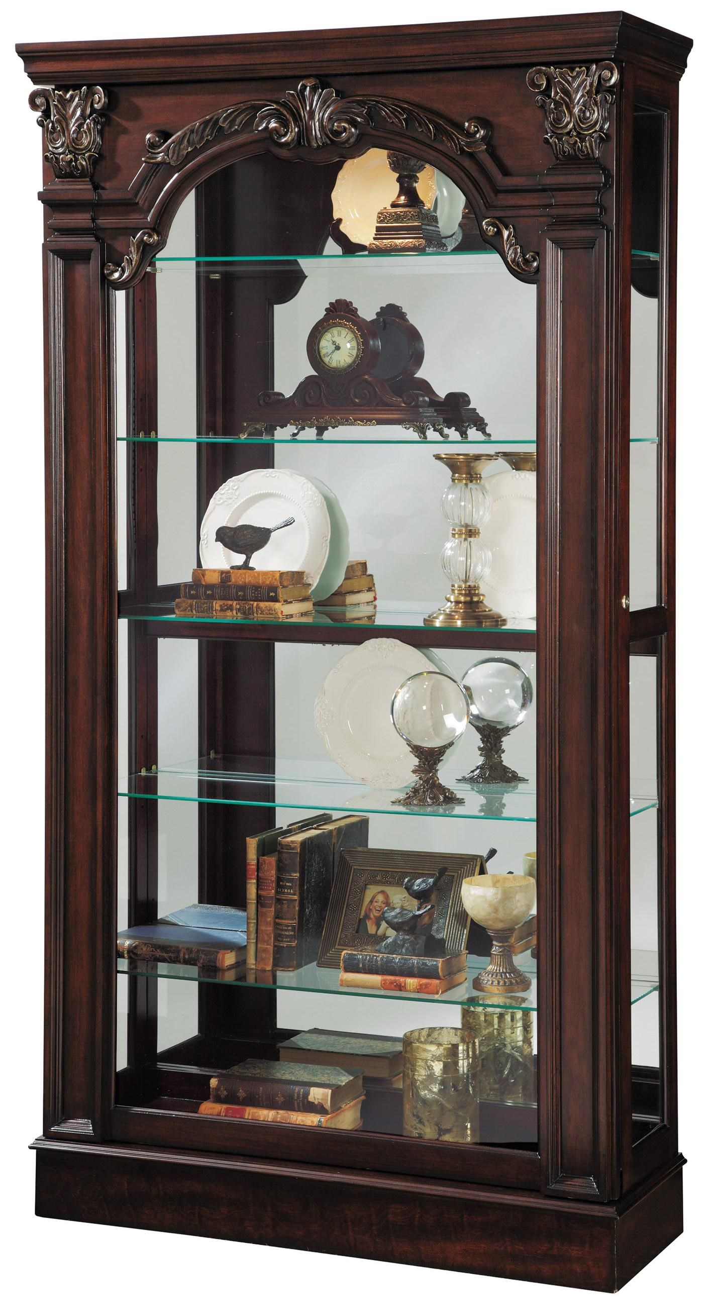 Pulaski Furniture Curios Traditional Style Sliding Front Curio : Hudsonu0026#39;s Furniture : Curio ...