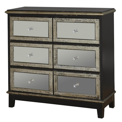 Pulaski furniture accents accent chest w mirrored drawers for Home accents furniture