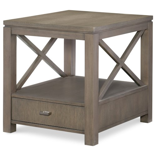 Rachael Ray Home High Line End Table With Drawer Fashion Furniture End Tables Fresno Madera