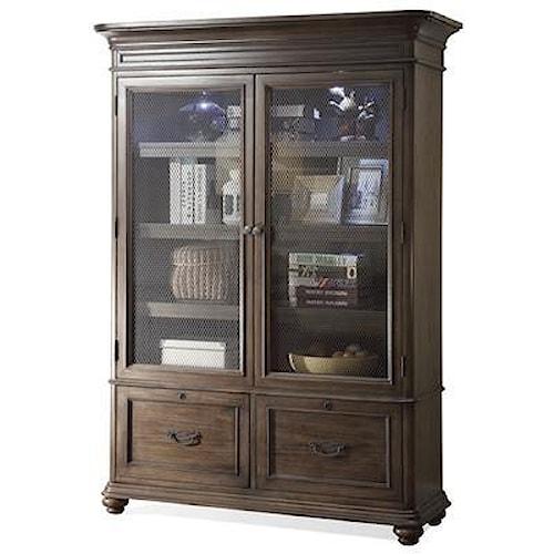 Riverside Furniture Belmeade Large Bookcase w/ Glass Doors ...