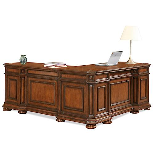 Riverside furniture cantata traditional l desk return value city furniture l shape desk - Value city office desk ...