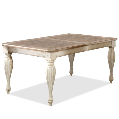 Riverside furniture coventry two tone 32550 rectangular for 2 tone dining room tables