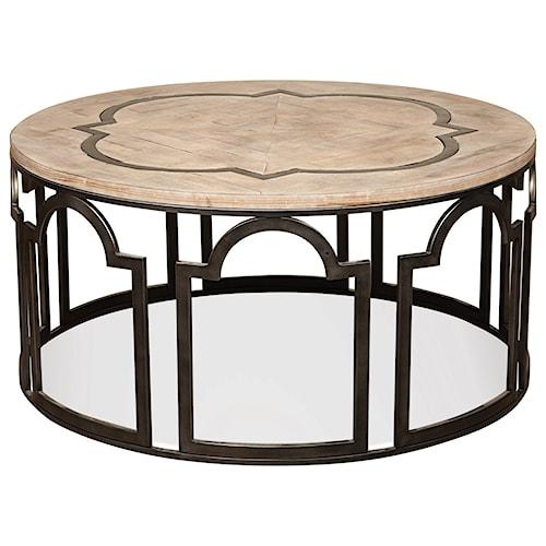Riverside Furniture Estelle Round Cocktail Table Hudson 39 S Furniture Cocktail Or Coffee Table