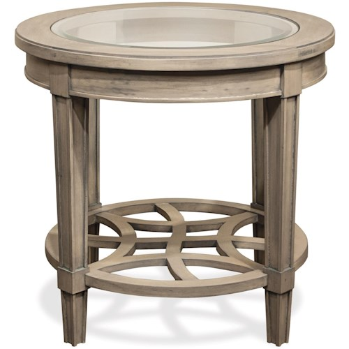 Parkdale Oval Coffee Table: Riverside Furniture Parkdale Round End Table With