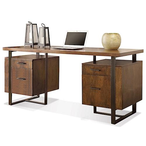 Riverside furniture terra vista double pedestal desk with for Furniture 500 companies
