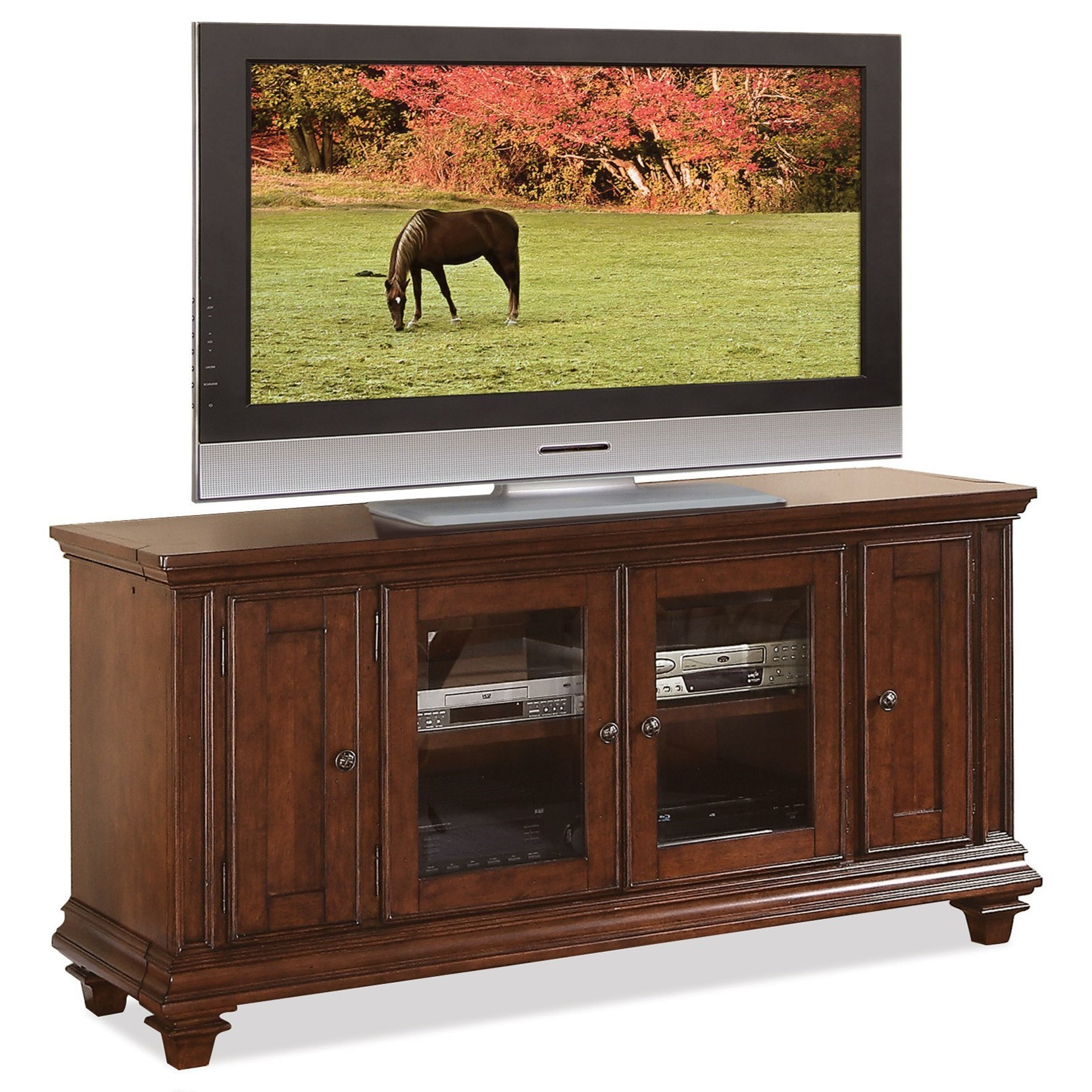Riverside Furniture Windward Bay 63 Inch TV Console : Hudsonu0026#39;s Furniture : TV Stands Tampa, St ...