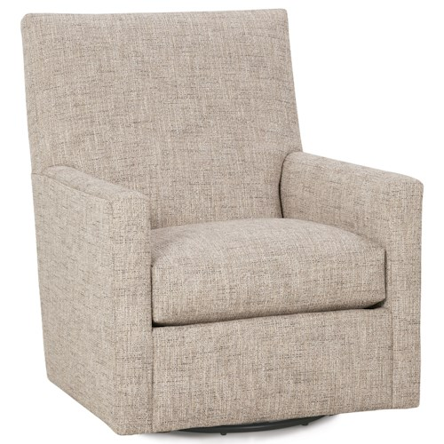 Rowe Carlyn Contemporary Swivel Glider Belfort Furniture Upholstered Chairs