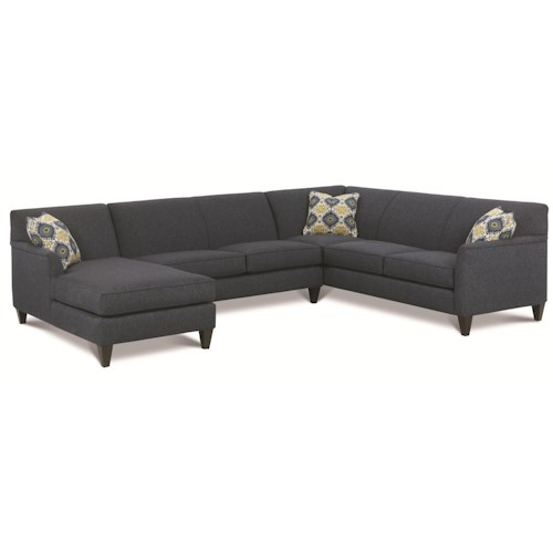 Rowe varick rxo custom 3 pc sectional w raf chaise baer for 3pc sectional with chaise
