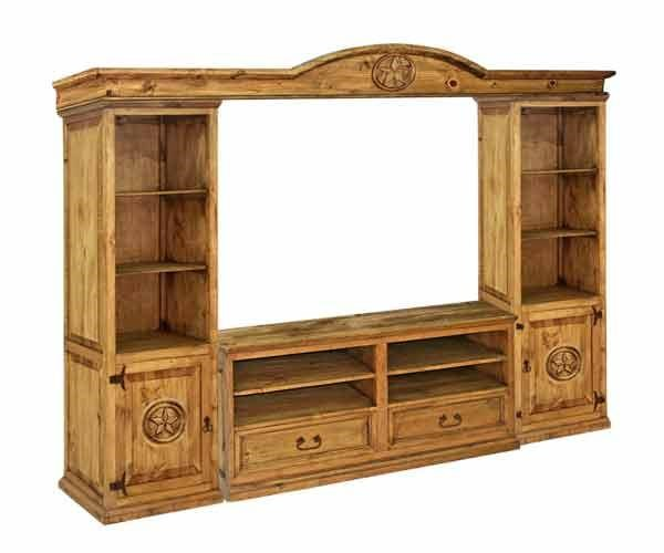 """Rustic Specialists Texas Star 50"""" Wall Unit Ivan Smith"""