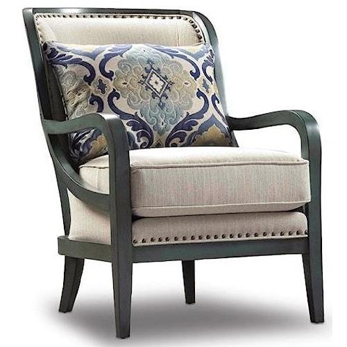 Exposed Wood Furniture ~ Sam moore carlisle modern exposed wood chair with nailhead