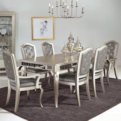 Samuel Lawrence Diva 7 Pc Table amp Chair Set Royal Furniture Dining or More Piece Sets