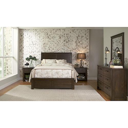 Samuel Lawrence Ruff Hewn Queen Bedroom Group