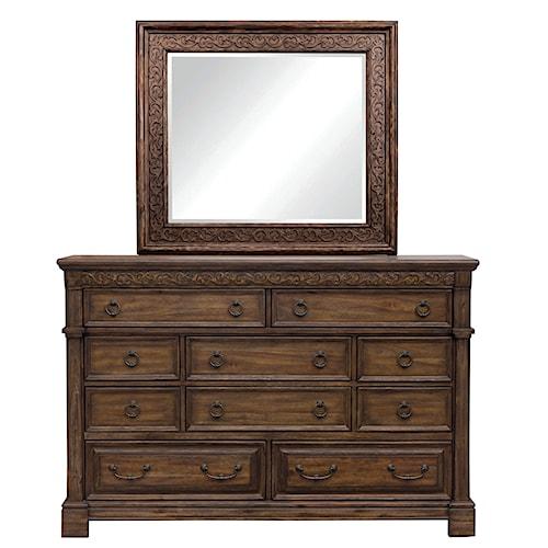 Samuel Lawrence S005 Dresser Mirror Ivan Smith Furniture Dresser Mirror