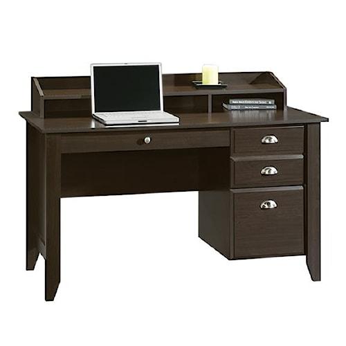 Sauder Shoal Creek Desk With Keyboard Drawer