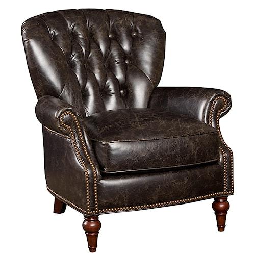 Hamilton Home Club Chairs Traditional Leather Nailhead