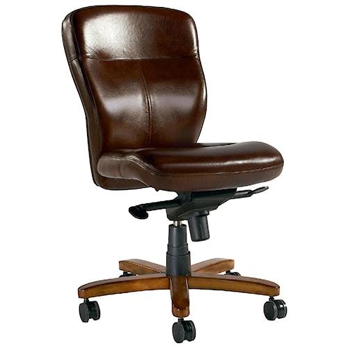 Hooker Furniture Executive Seating Armless Executive Swivel Tilt Chair Reed