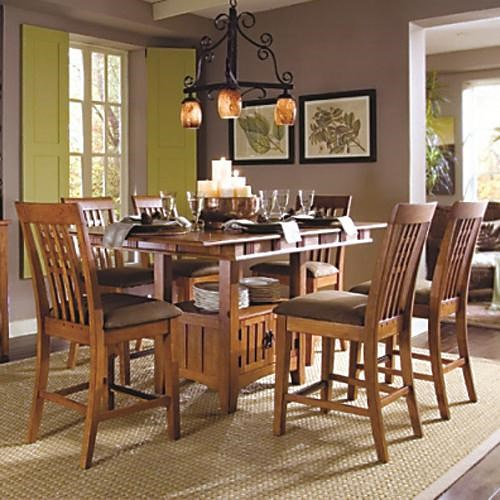 pub table and stool set sg santa fe 7 pc counter height dining set