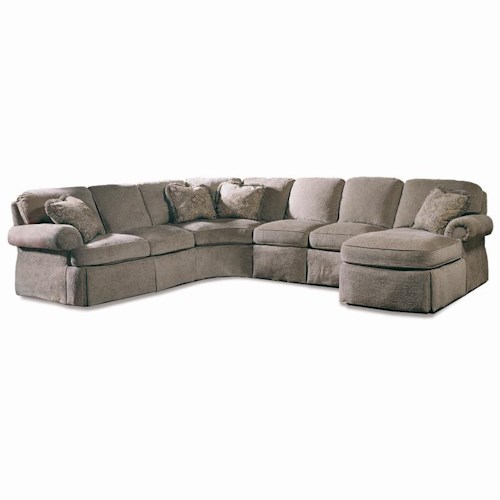 Sherrill Design Your Own 5 Pc Sectional With Rolled Arms