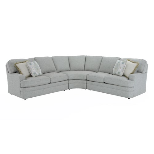 Sherrill Design Your Own 96 Tbu 3 Pc Sectional Sofa Baer