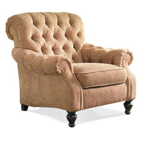 sherrill traditional upholstered lounge chair with tufted