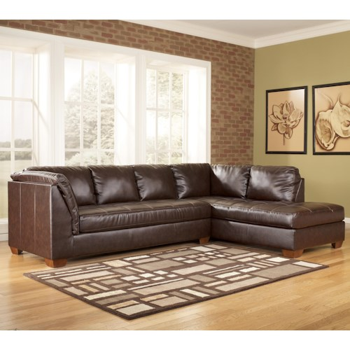 Signature design by ashley fairplay durablend 2 piece for Ashley sectionals with chaise