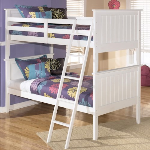 Signature Design By Ashley Lulu Twin Twin Bunk Bed Ivan Smith Furniture Bunk Beds