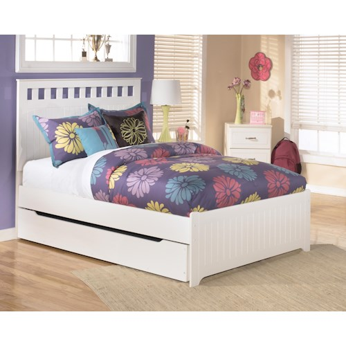 Signature Design By Ashley Lulu Full Bed With Storage Trundle Wayside Furniture Platform